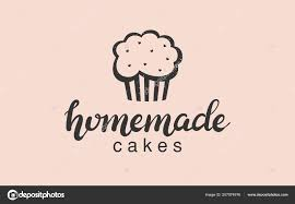 hand drawn homemade cakes logo