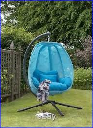 blue co hanging egg chair swing