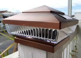 Copper Metal Plated Solar Post Cap Led Light 5x5 Post Deck Fence Lighting 5 Inch Green Garden Post Lights