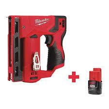 Milwaukee 2447 20 48 11 2420 98 99 Staple Gun Cordless 12vdc Zoro Com
