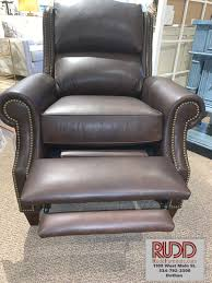 leather recliner by bradington young
