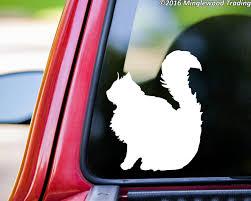 Sitting Cat Vinyl Sticker Feline Longthair Lond Hair Dlh Kitten Die Cut Decal Minglewood Trading