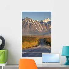 Amazon Com Wallmonkeys Scenic View Of The Haines Highway In Southeast Alaska During Summer Wall Decal Peel And Stick Graphic Wm222509 24 In H X 16 In W Home Kitchen