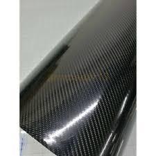 6d Black Shiny Gloss Glossy Carbon Fiber Film Wrap Vinyl Decal Car Auto Sticker Ebay