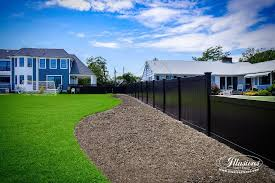 Black Pvc Vinyl Privacy Fencing Panels Illusions Fence