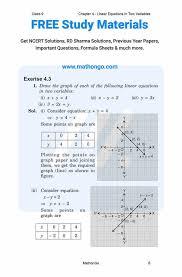 class 9 maths chapter 4 exercise 4 3