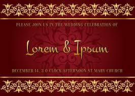 indian wedding card free vector art