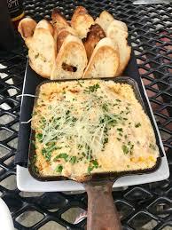 I ate] crab & shrimp fondue with garlic ...