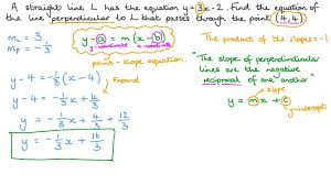 equation of a line perpendicular
