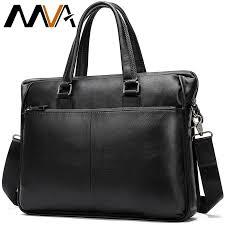 male men s genuine leather laptop bag