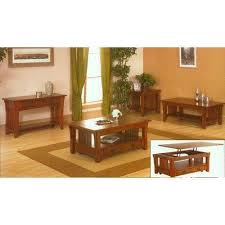mission mission style coffee table set