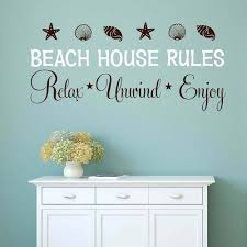 Beach House Rules Wall Decal Beach House Rules Wall Sticker 933q Wall Stickers Aliexpress