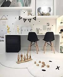 Amazon Com 2xhome Kids Size Plastic Toddler Chairs With Natural Wooden Dowel Legs Black Set Of 2 Kitchen Dining