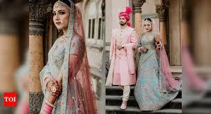 bride wore the most regal blue lehenga