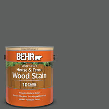 Behr 1 Gal T17 10 Shades On Solid Color House And Fence Exterior Wood Stain 03001 The Home Depot