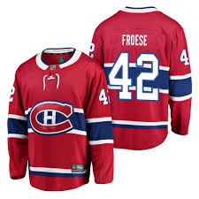 Montreal Canadiens Byron Froese Breakaway Player Jersey Red