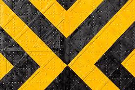 الحديد ورق الجدران ووضع العلامات والمشارب والأصفر والأسود