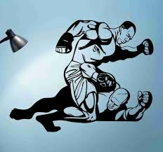 Mma Fighter Sticker Wall Decal Art Graphic Ezwalldecals