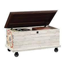 farmhouse storage trunk coffee table