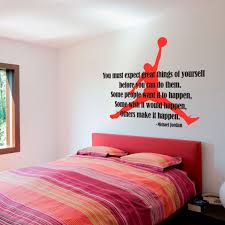 Wall Decal Quotes Michael Jordan Typographic Famous Quote Sticker Air Jordan Silhouette Basketbal On Luulla