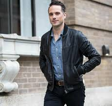 how to style a leather jacket for men