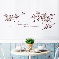 happiness is being home again branches and birds vinyl art wall