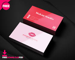 free makeup business cards designs