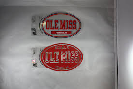 Ole Miss Oval Stickers Rebel Fever University Sporting Goods