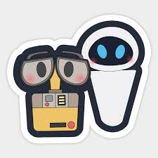 Wall E Wall E And Eve Sticker Teepublic Uk