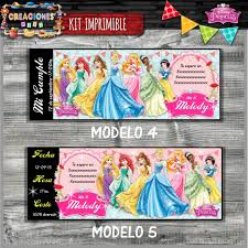 Invitacion Digital Cumpleanos Princesas Disney Whatsapp 99 99