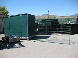 Green Construction Security Fencing Pleasant Valley Trailers
