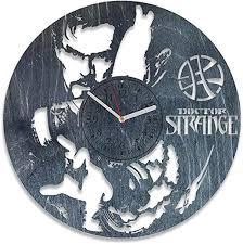 Amazon Com Kovides Marvel Movie Doctor Strange Wooden Wall Clock For Boy Dr Strange Wood Art Doctor Strange Decorations Personalized Gift For Fan Doctor Strange Wall Decals Black Home Kitchen