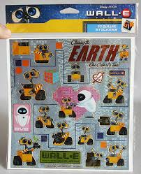 Rare Wall E Eve Mo M O Big Sticker Sheet W 19 Stickers Disney Pixar Brand New Ebay