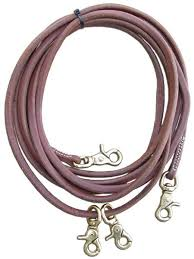 rolled leather draw reins