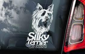 Silky Terrier Car Sticker Australian Yorkie Dog Window Sign Decal Gift Pet V01 Ebay