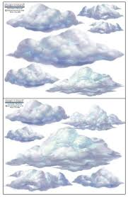 Create A Mural Sky Cloud Wall Decals Beautiful Cloud Wall Stickers Room Decor Appliques Wall Stickers Murals Olivia Decor Decor For Your Home And Office