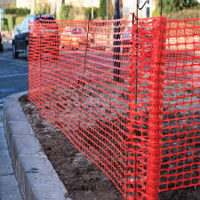 Orange Safety Barrier Fencing Pins Agricultural Fencing Green Tech