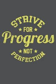 Strive For Progress Not Perfection Lined Journal Notebook By Not A Book