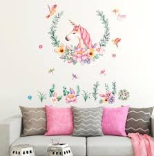 China Hot Sale Pvc Adhesive Unicorn Wall Sticker Home Decor Kids Room China Stickers And Home Decoration Price