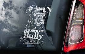 American Bully On Board Car Window Sticker Beware Of The Etsy