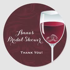 wine glass bridal wedding shower