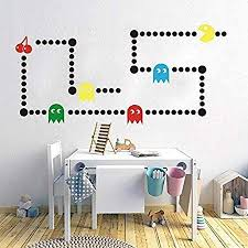 Amazon Com Ericaubird Decal Sticker Pacman Game Wall Decal Retro Gaming Decal Pacman Game Space Invaders Wall Sticker Vinyl Decal Art Decor Kids Room Bedroom Wall Art Home Kitchen