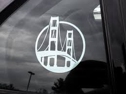 Mighty Mac Mackinac Vinyl Decal By The Mighty Mitten