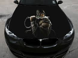 Vinyl Car Hood Wrap Full Color Graphics Decal Mortal Kombat Scorpion Sticker 2 Ebay