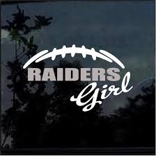 Oakland Raiders Girl Window Decal Sticker Custom Sticker Shop