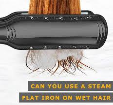 steam straightener on wet hair what