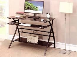 computer desk black glass top and