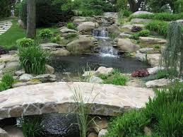 fish pond garden landscaping ideas
