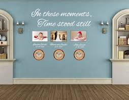 In These Moments Time Stood Still Wall Decal Inspirational Wall Signs