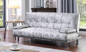 crushed velvet fabric sofa bed groupon